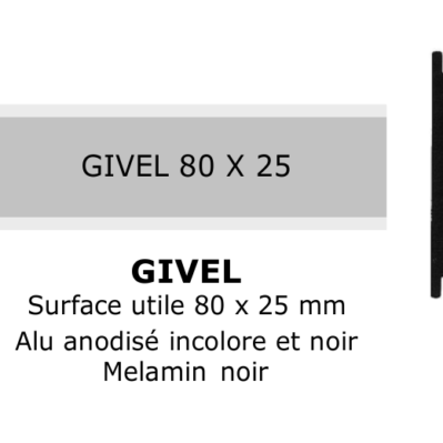 Givel 80x25mm